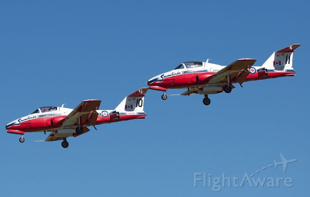 """Canadair CL-41 Tutor (11-4050) - RCAF Snowbirds 10 and 11 arriving for the Alliance Fort Worth Airshow 10/09/2018. (Please view in """"full"""" for highest image quality)"""