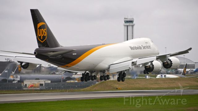 BOEING 747-8 (N623UP) - BOE687 on final to Rwy 16R on 10.17.20. (B747-8F / ln 1561 / cn 65783).