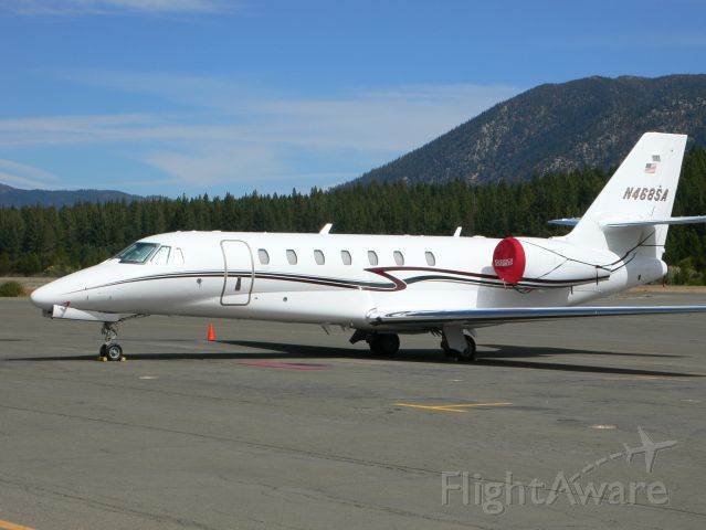 Cessna Citation Sovereign (N468SA) - On the ramp in Tahoe