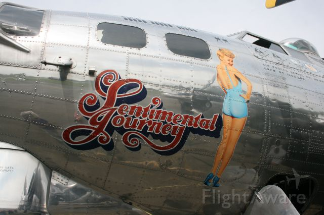 — — - Nose art close-up featuring Betty Grable on Sentimental Journey at Schenectady County Airport on August 16, 2014