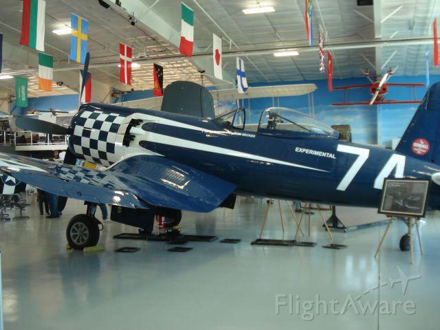 — — - Super Corsair at the Fargo Air Museum