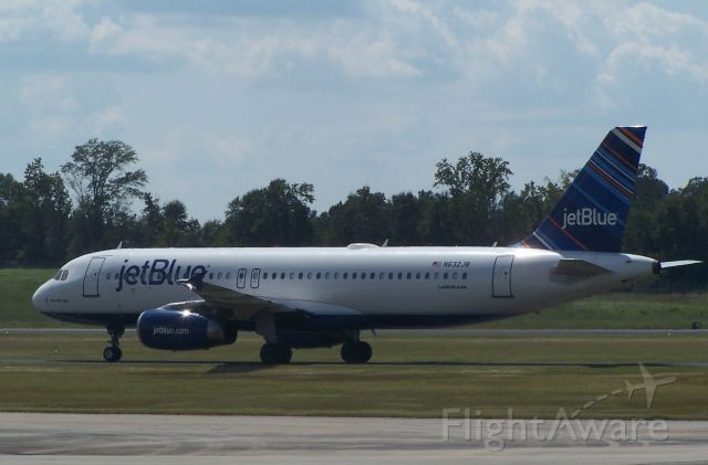 Airbus A320 (N632JB) - East Carolina Pirates charter into Hattiesburg for Southern Miss' first home game.