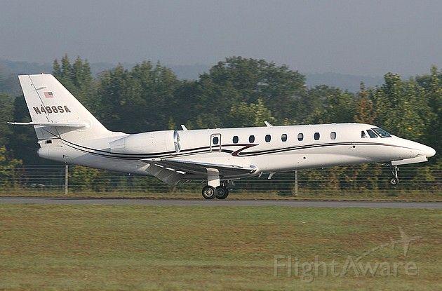 Cessna Citation Sovereign (N468SA) - Landing at Fulton County for the 2007 NBAA.