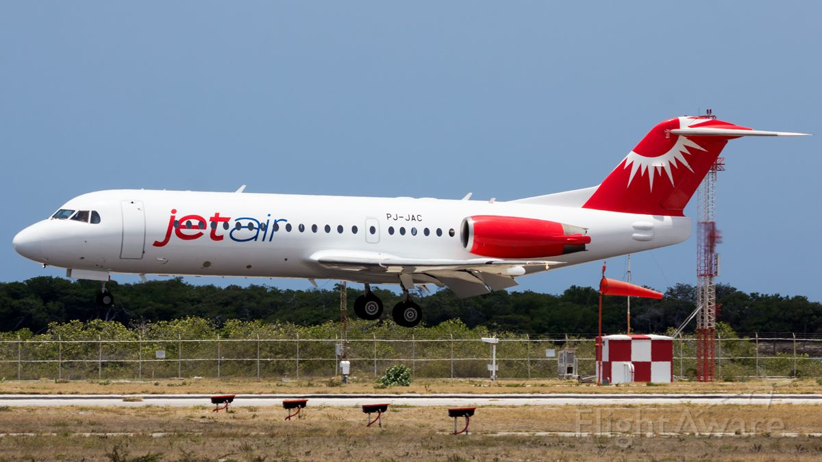 Fokker 70 (PJ-JAC) - The 2nd Fokker 70 arrival from Curacao!