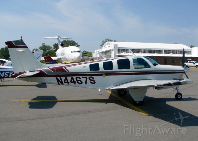 Beechcraft Bonanza (36) (N4467S) - At Downtown Shreveport.