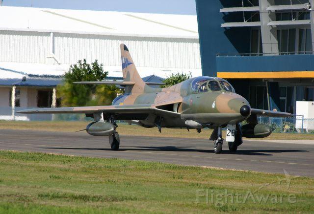 Hawker Hunter (VH-RHO) - Ready to fly - 9th July 2004