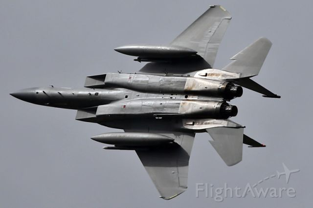 McDonnell Douglas F-15 Eagle — - Banking hard after a run-in-and-break