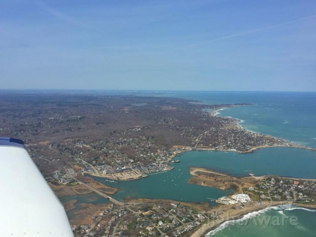 Piper Cherokee (N724CA) - Over Scituate Harbor