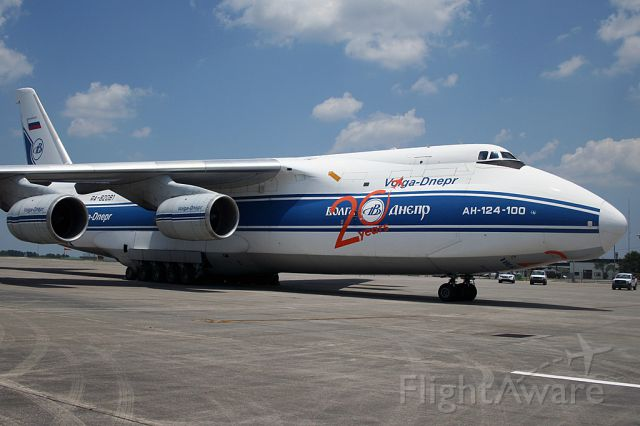 Antonov An-124 Ruslan (RA-82081) - Delivering parts for the 787. Not sure why, but they were unable to go to CHS.