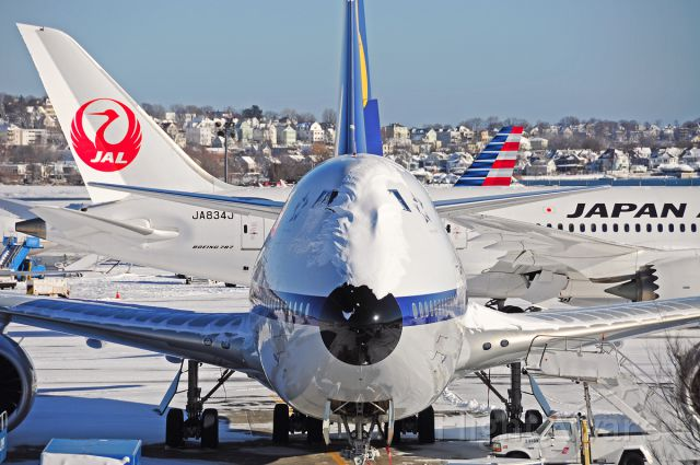 BOEING 747-8 (D-ABYT) - Head on with the Queen of the Skies !