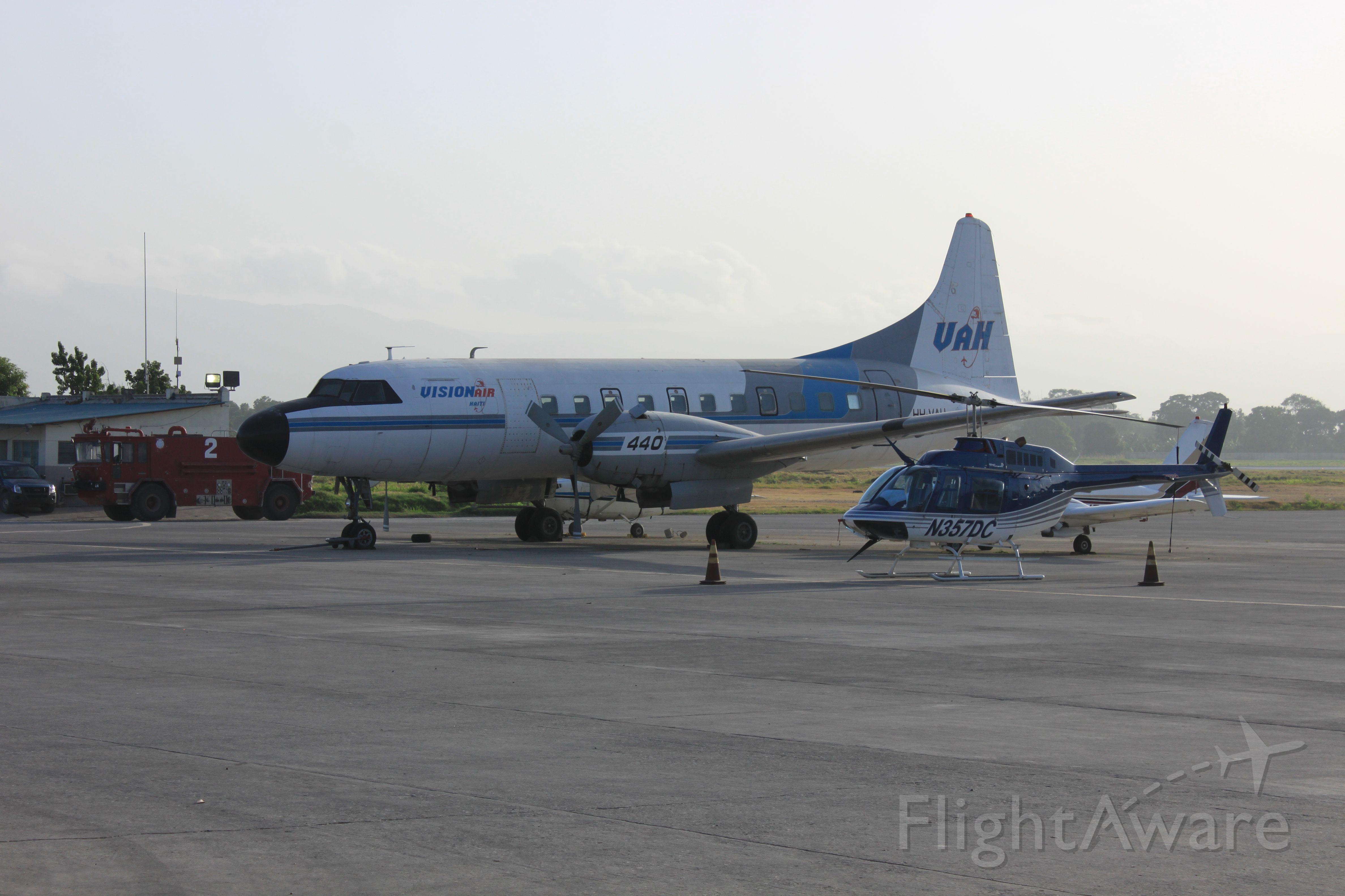 HH-VAH — - As seen from the departure door of Aerogare Guy Malary on 13 Jun 2012.