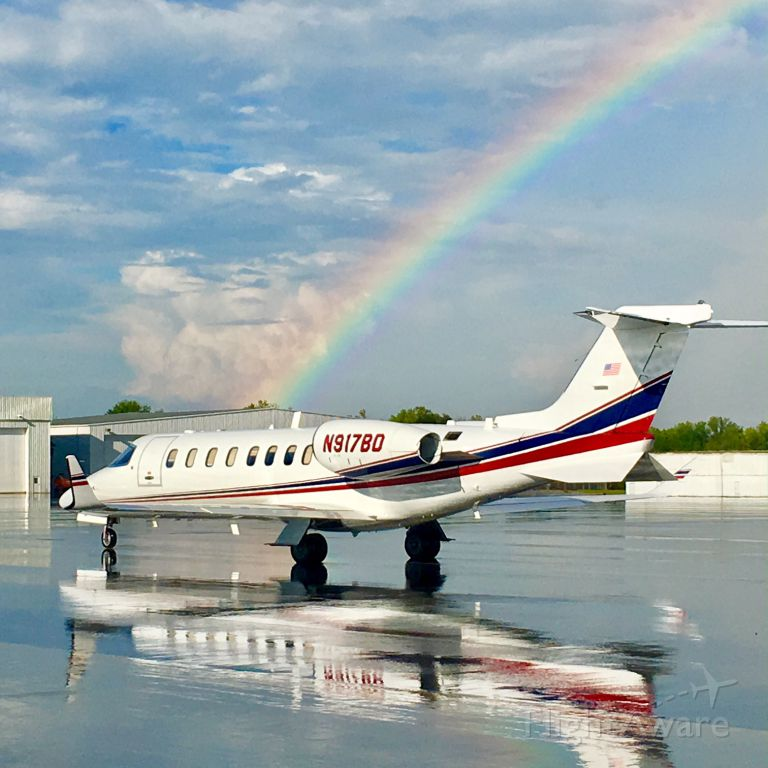 Learjet 45 (N917BD) - After the Thunderstorm at Charlotte, NC