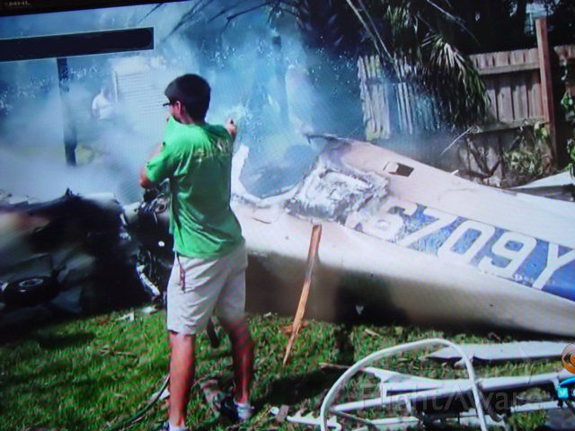 Cessna Skyhawk (N6709Y) - Sadly, N6709Y crashed on 04/25/2016 near KPMP (Pompano Bach, FL). Excuse the quality (taken off local TV news coverage)