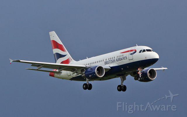 Airbus A318 (G-EUNA) - british airways a318 g-euna landing at shannon 11/11/18.