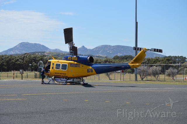 Bell BigLifter (P2-MSA) - McDermott Aviation Big Lifter refueling at Flinders Island , Jan 2017
