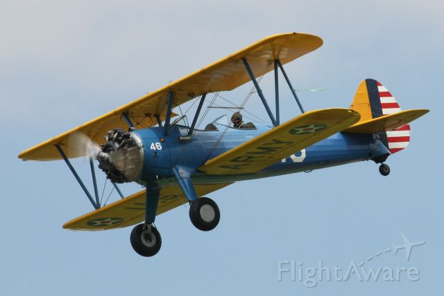Boeing PT-17 Kaydet (N46Y) - 1941 Boeing Stearman N2S-2 owned and flown by Quentin Marty of Hightstown, NJ performing at The Greatest Show on Turf in Geneseo, New York. 9 July 2016