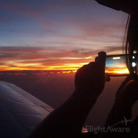 Piper Cherokee (N566CL) - Caribbean sunset......
