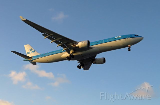 Airbus A330-300 (PH-AKB) - KLM773 EHAM-TNCB-TNCA A333 KB/PH-AKB short final for RWY 10 at BON/TNCB.