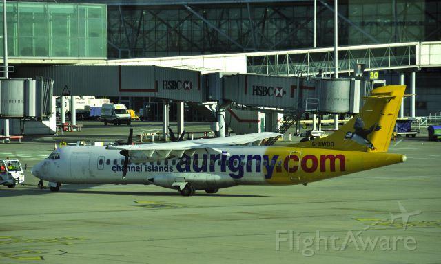 ATR ATR-72 (G-BWDB) - Aurigny ATR 72-202 G-BWDB in London Stansted