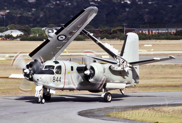 — — - AUSTRALIA - NAVY - GRUMMAN S-2G TRACKER (G-121) - REG N12-152333/844 (CN 220C) - PARAFIELD AIRPORT ADELAIDE SA. AUSTRALIA - YPPF (20/4/1986)TAKEN AT THE PARAFIEDLD AIR SHOW IN 1986. 35M SLIDE CONVERSION.