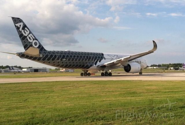 Airbus A350-900 (F-WWCF) - Fueling stop on the way back to France from EAA in Oshkosh WI.