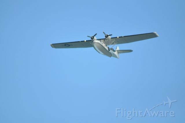 G-PBYA — - Canadian Vickers PBY-5A flying low over Dublin City at Flight Fest 15.09.13