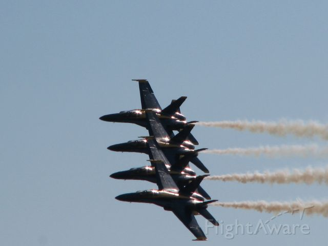 USN — - Blue Angels in tight formation over Nantucket Island,Ma.