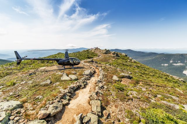 Robinson R-44 (N277PD) - Little Haystack Mountain, White Mountains, New Hampshirebr /br /If you dont want to climb a 4,760ft mountain, you might as well just land your helicopter on the peak.