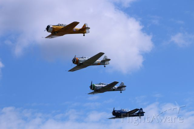 N119DP — - Annual Paine Field Antique fly in, 5 Sept 15. In formation with T-6G Texans and Canadian T-6