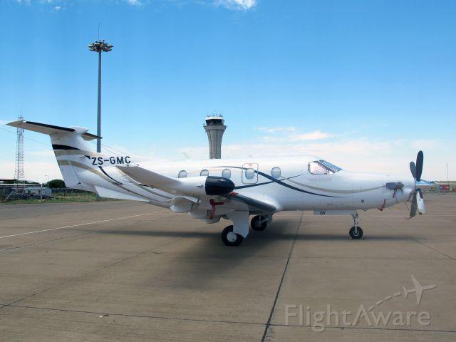 Pilatus PC-12 (ZS-GMC) - At Gaborone, Botswana.
