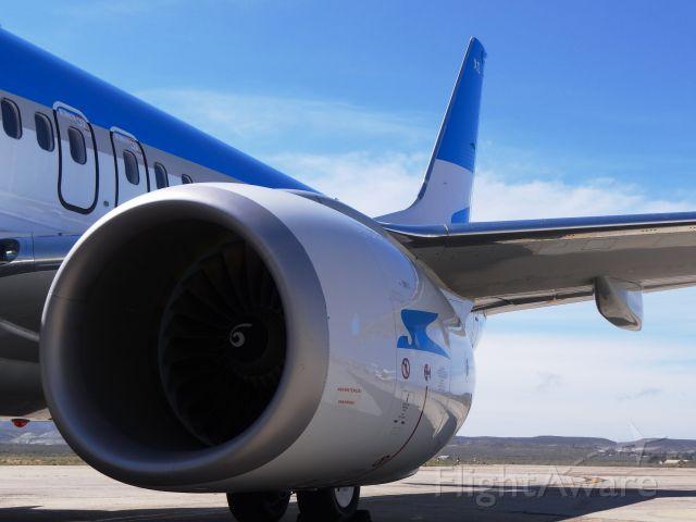 Boeing 737-700 (LV-CXS) - Comodoro Rivadavia, Argentina