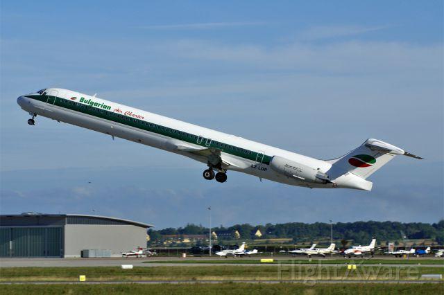 McDonnell Douglas MD-82 (LZ-LDP) - McDonnell Douglas MD82  Bulgarian Air Charter  ex Alitalia  EDDS Stuttgart Echterdingen Germany  26.August 2010