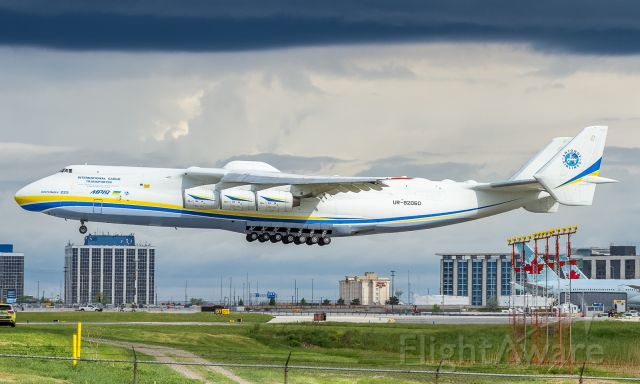 Antonov An-225 Mriya (UR-82060) - Antonov Airlines An 225 about to touch down on 24R at YYZ, only the second time she's visited Toronto.