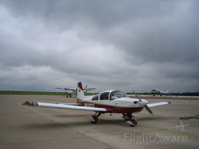 Grumman AA-5 Tiger (N929TE) - Weather Stop in Guymon, OK (KGUY).      2006 Cross Country Flight from Grand Strand Airport (KCRE) in North Myrtle Beach, SC to Philmont Scout Ranch near Raton, NM (KRTN).