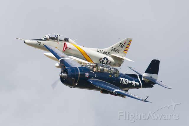 SINGAPORE TA-4 Super Skyhawk (N3524) - U.S. Navy Heritage Flight at Thunder Over Michigan.