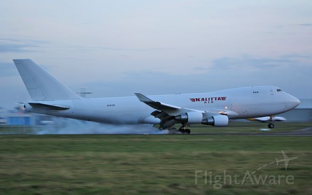 Boeing 747-200 (N701CK) - kalitta air b747-481f n701ck landing at shannon this evening 5/11/17.