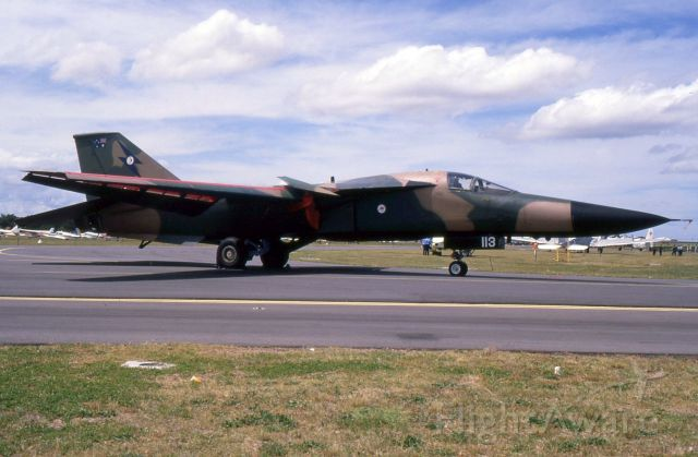A8113 — - General Dynamics F111 A8-113 at the Bi-Centenial Airshow held in 1988 at Richmond Airforce Base.
