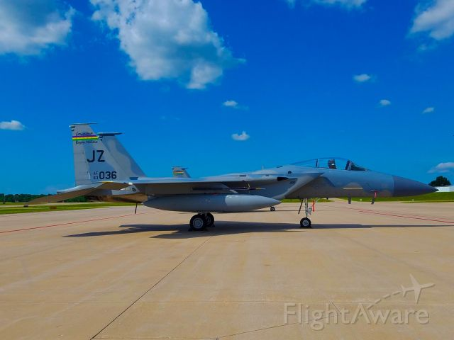 McDonnell Douglas F-15 Eagle (83-0036) - This was sent to me by a friend that works at the airport.