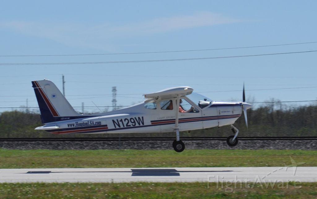 N129W — - Light Sport Tecnam P-92 Echo Super takeoff runway 27 KAXH