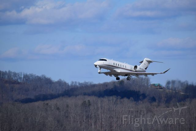 Canadair Challenger 350 (N743QS) - Taking off from Yeager Airport (KCRW) on it's way to KCHO