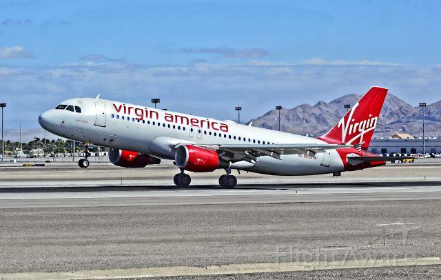 "Airbus A320 (N634VA) - N634VA Virgin America Airbus A320-214  (cn 634) ""mach daddy"" - McCarran International Airport (KLAS)br /Las Vegas, Nevadabr /TDelCorobr /September 22, 2013"