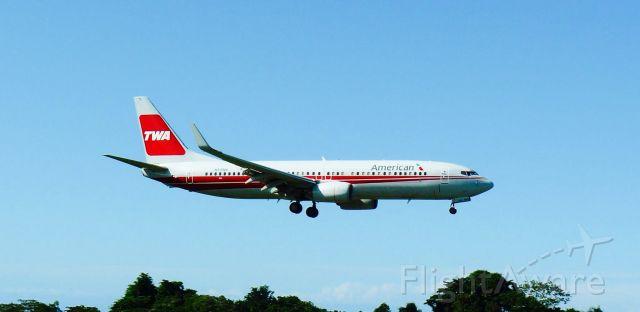 Boeing 737-800 (N915NN) - AMERICAN AIRLINES B738, ON FINAL APP TO MDPP AIRPORT!