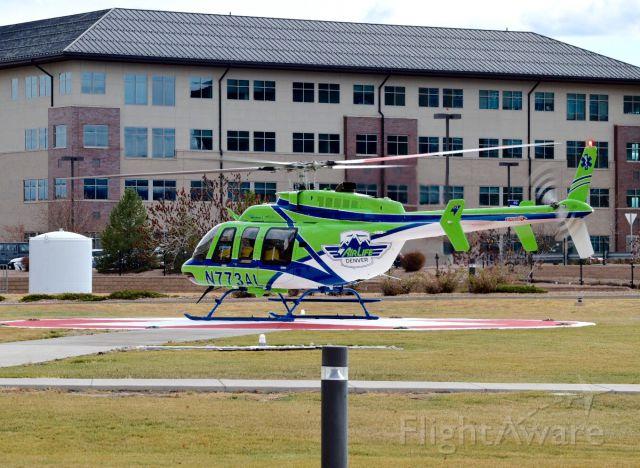 Bell 407 (N773AL) - Airlife Denver coming into Good Samaritan in Lafayette CO 11/27/16