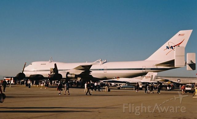 Boeing Shuttle Carrier (N911NA) - NASA Shuttle B-747 on display at the Edwards AFB Open House and Air Show 10-18-1997