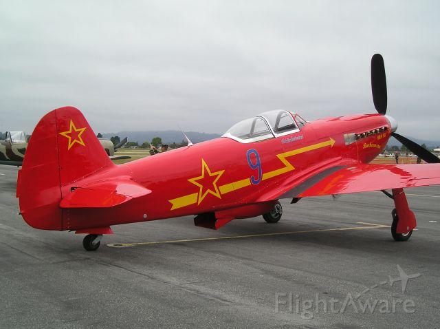 — — - Yak 9 at the Watsonville CA airshow, Memorial weekend 5-24-09.
