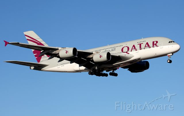 Airbus A380-800 (A7-APD) - On Approach to Rwy 16R
