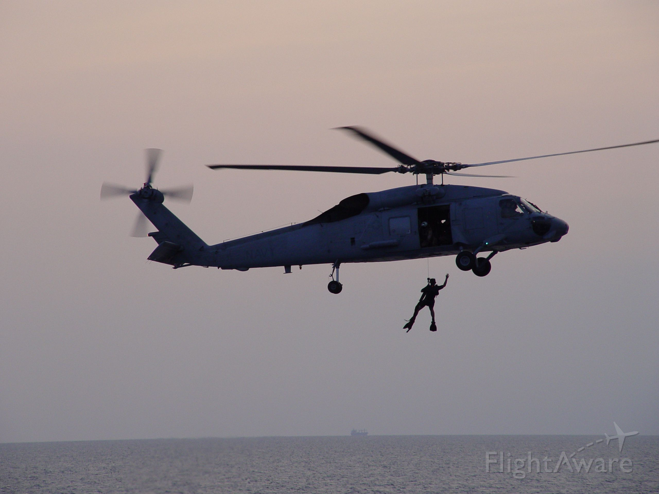 — — - Modified 60F/B NAS Key West SAR. Rescue Swimmer Jumps