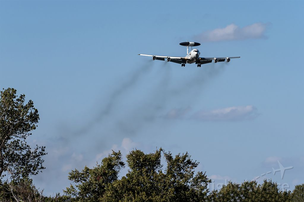 Boeing 707-300 — - USAF E-3 Sentry in the pattern at Tinker AFB.
