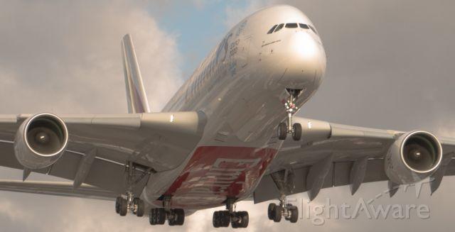 Airbus A380-800 — - Short final RWY 23