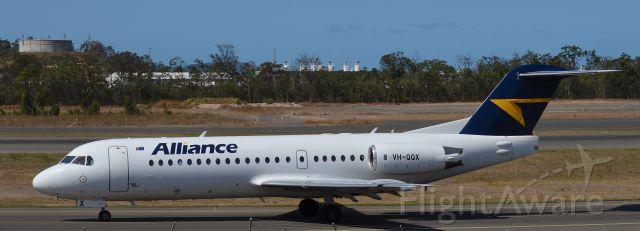 Fokker 70 (VH-QQX) - Taken in Gladstone, Queensland on the 6th November,2013.